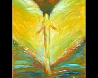 ORIGINAL Angel Painting on Canvas - Angel Art from Vision of Angels Series - Glory 30x24 by BenWill