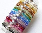 RESERVED -- 12 Swarovski Crystal Inspiration Stretch Bracelets -- CUSTOM ORDER