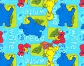 Sesame Street Cotton Fat Quarter FQ Big Bird Elmo Cookie Monster