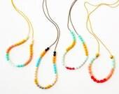 Minimalist Little Boho Bead Necklace, Layering minimalist necklace, colorful little bead necklace