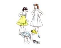 1950s Girls Slip Petticoat Panties Butterick 5981 Vintage Sewing Pattern Size 14
