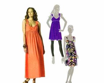 SALE Womens Front Drape Tunic Dress McCalls 6072 Sewing Pattern Misses Size 6-8-10-12-14 Bust 30 1/2 - 31 1/2 - 32 1/2 - 34 - 36 UNCUT