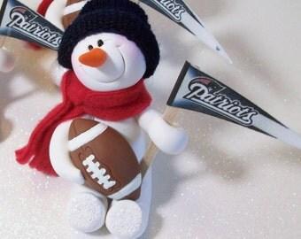 New England Patriots: snowman ornament
