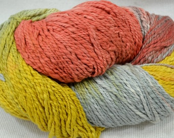 NEW Hand Dyed Organic Cotton Sunflowers Multi Solid Quest by Yarn Hollow 8 ounces 325 Yards Huge Skeins