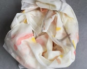 OOAK painted cotton gauze scarf