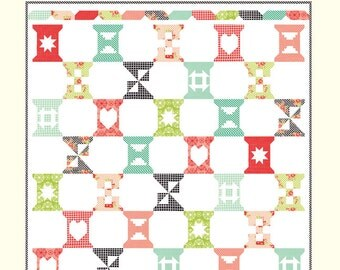 Spool Sampler quilt pattern from Cotton Way - fat quarter friendly