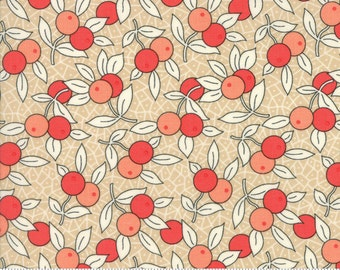 Chestnut Street - Berries in Chestnut: sku 20273-15 cotton quilting fabric by Fig Tree and Co. for Moda Fabrics - 1 yard