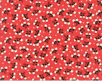 Chestnut Street - Cotton Puffs in Pomegranate: sku 20275-11 cotton quilting fabric by Fig Tree and Co. for Moda Fabrics - 1 yard