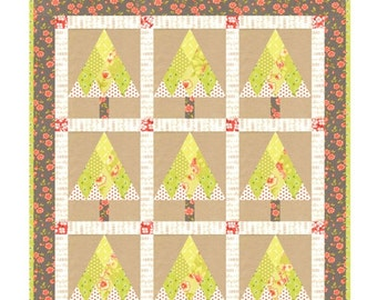MINI Juniper quilt pattern wall hanging from Fig Tree and Co.