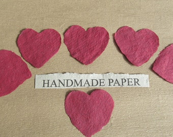Heart Handmade Paper from recycled materials - heart shapes for Valentines Day!