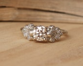 Vintage Petal Diamond Ring