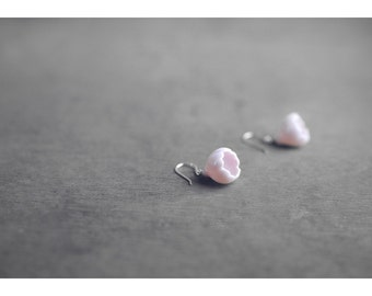 Sakura ceramic earrings, Cherry blossom earrings Pink earrings Spring earrings Flower earrings Floral earrings Gift for mother - boohua