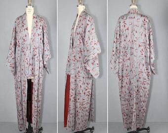 kimono sale / 1950s / vintage kimono / silk robe / MODERN GLYPH silk kimono
