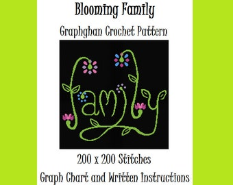 Blooming Family - Graphghan Crochet Pattern