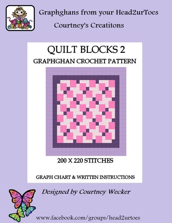 Crochet Patterns Quilt Blocks : Quilt Blocks 2 Graghghan Crochet Pattern