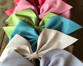 LARGE Faux Leather Bow Hair Clip Cheer Bow Boutique Bow