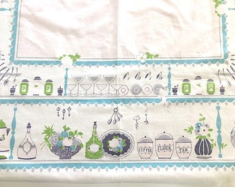 vintage kitchen table cloth vintage/retro shabby/cottage chic