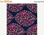 SALE Anna Maria Horner Field Study Collection Mind's Eye Cotton Fabric by the yard Jazz Blue Pink Flowers