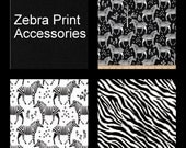 Custom Tula Accessories for Incognito Zebra Print - Also available for Kinderpack  - Made to Order