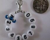 Capri Blue 10 Row Removable Row Counter Stitch Marker - Item No. 726