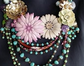 Prairie Blossom... a statement necklace from Wendy Baker