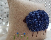 Recycled Camel Sweater Sheep Pillow