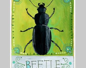 Animal Totem Print - Beetle