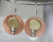 Silver, Copper and Brass Earrings Drop Earrings Dangle Earrings Jewelry