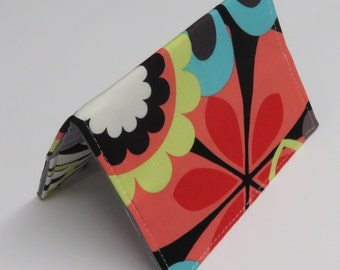 Passport Holder Travel Holiday Cruise Vacation Cover Case - Bold Mod Flowers