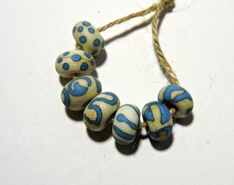 Lampwork Beads NATURALS 8 Two Sisters Designs 091716I