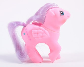 Vintage My Little Pony Pink Pegasus Purple Hair Baby Northstar