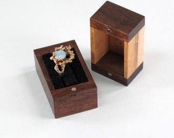 Engagement Ring Box, Wedding Ring Box, Walnut, Birds Eye Maple, Single Ring Box, Double Ring Box