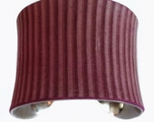 Burgundy Pinstripe Leather Cuff Bracelet - by UNEARTHED