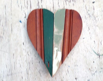 Rustic Wooden Heart, Reclaimed Wood Heart, Bohemian Decor, Wood Wall Decor Boho Room Decor Rustic Wall Decor, Boho Heart Decor Wood Heart