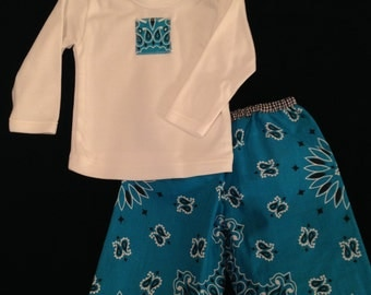 Infant size 0-3 months long pants and T shirt set