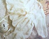 Baby Knitting Patterns Matinee Coat Bonnet Shawl Beehive Patons 1077 Blanket Paper Original NOT a PDF