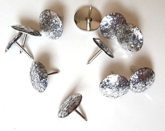Silver Glitter Thumbtacks, Push Pins Set. Perfect for Bulleting Boards, Office Gifts, Office Decor.