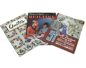 Three Vintage Quilting Pattern Booklets