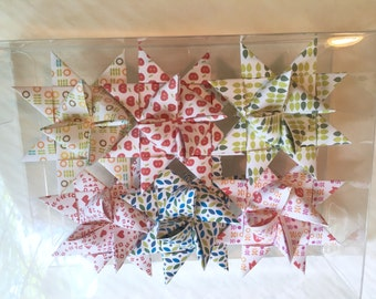 Moravian Paper Star Ornaments Scandinavian Patterns (3 inch)