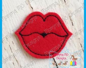 Lips Felt Feltie Embroidery Design