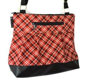 Tablet Pocket Leather Crossbody Purse - iPad Pocket Cross Body Bag -  Leather Crossbody Purse - Shoulder Purse -  MEDIUM or Large HOBO BAG