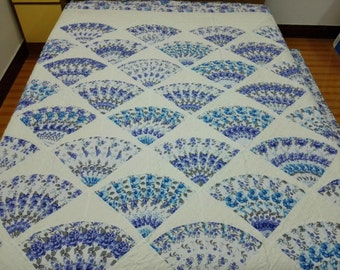 King size Machine pieced and quilted patchwork Quilt