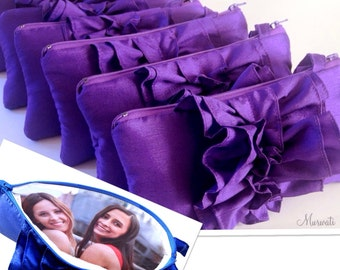 "Custom Photo Clutches for BridesmId Gift- Bridal Shower Gift Idea With Your Favorite Pictures- Bulk Bridesmaids Gift- Size 5""x 10"""