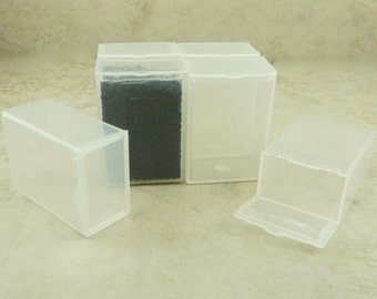 6 Small Easy Storage Containers   Holds 20 Grams Seed Beads   Plastic Box Flip  Top