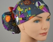 Scrub Hats // Scrub Caps // Scrub Hats for Women // The Hat Cottage // Halloween // Ponytail // Monsters