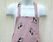 Childs Apron with Stripes and Cows