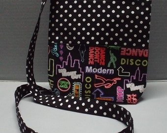 Gracie's Hipster Bag, Crossbody Bag or Purse, Let's Party Fabric