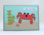 Sorry I was Crabby, Cute Apology Card