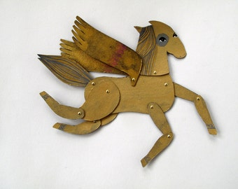 Ginger Style Winged Mini Horse  / Hinged Beasts Series