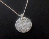 Special SALE - Classic CIRCLES Pattern Necklace on a Sterling Siver Chain